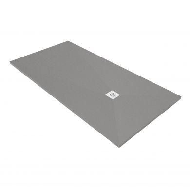 Acquabella Base Slate 1200x700 Shower Tray - Platinum
