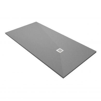 Acquabella Base Slate 1200x700 Shower Tray - Cemento