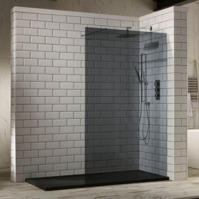 Frontline Aquaglass Mono 10mm Tinted Walk-In Shower Front Panel - 1400mm