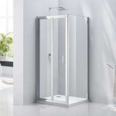 Frontline Aquaglass Purity 6mm Bi-Folding Shower Door - 900mm