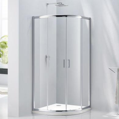 Frontline Aquaglass Purity 6mm Offset Quadrant Shower Enclosure with Two Sliding Doors - 1000x800mm