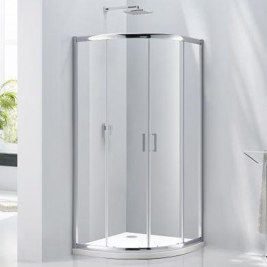 Frontline Aquaglass Purity 6mm Quadrant Shower Enclosure with Two Sliding Doors - 1000x1000mm