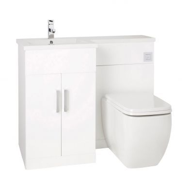 Frontline Aquatrend Petite 1050mm Furniture Suite with Summit Back To Wall Toilet