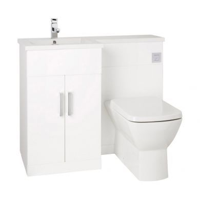 Frontline Aquatrend Petite 1050mm Furniture Suite with Metro Back To Wall Toilet