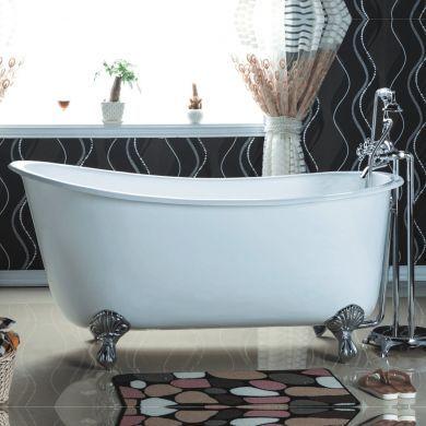 Arroll - The Ambrose Designer Cast Iron Freestanding French Tub Bath - 1370x740mm