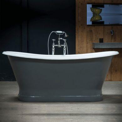 Arroll - The Lyon Designer Cast Iron Freestanding Roll Top Bath - 1700x720mm