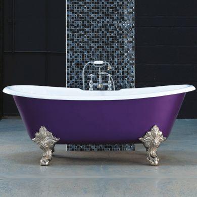 Arroll - The Milan Designer Cast Iron Freestanding Roll Top Bath - 1800x790mm