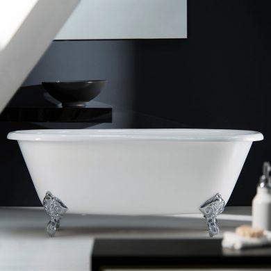 Arroll - The Moulin Designer Cast Iron Freestanding Roll Top Bath - 1700x770mm