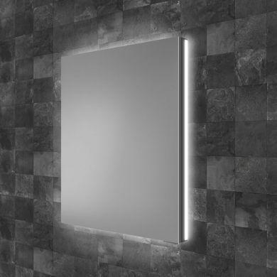 HiB Atrium 50 Single Door LED Illuminated Semi-Recessed Mirrored Cabinet - 500x700mm