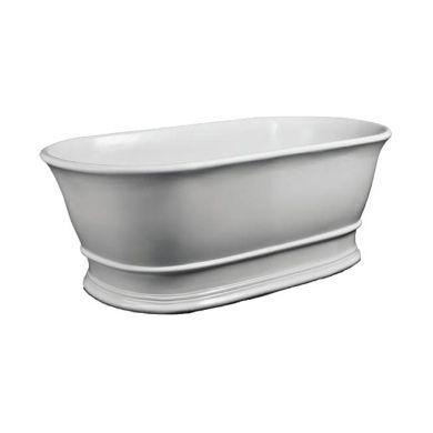 BC Designs Bampton Gloss White Cian Freestanding Bath 1555x740mm