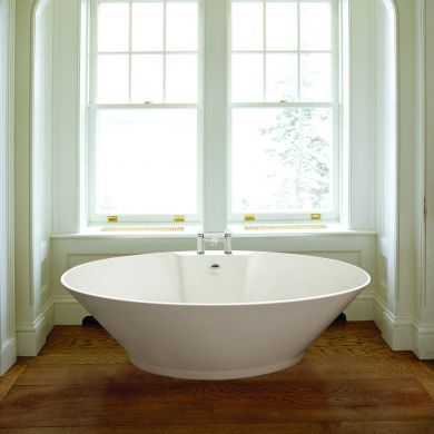 BC Designs Chalice Major Gloss White Acrymite Freestanding Bath 1780x935mm