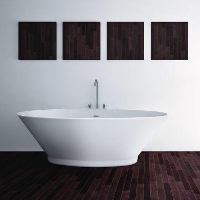 BC Designs Chalice Minor Gloss White Acrymite Freestanding Bath 1650x900mm