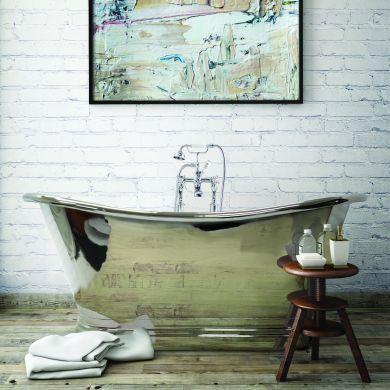 BC Designs Nickel Boat Classic Roll Top Bath 1700x725mm