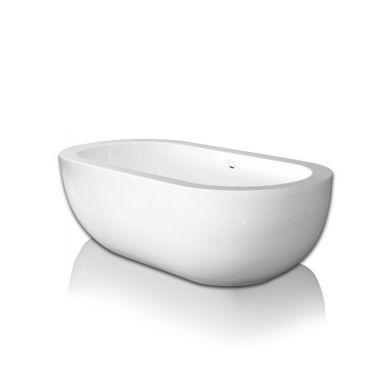 BC Designs Ovali Gloss White Acrymite Freestanding Bath 1805x850mm