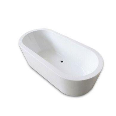 BC Designs Plazia Gloss White Acrymite Freestanding Bath 1780x800mm