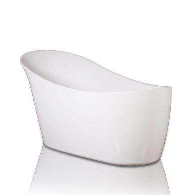 BC Designs Slipp Gloss White Acrymite Freestanding Bath 1590x675mm