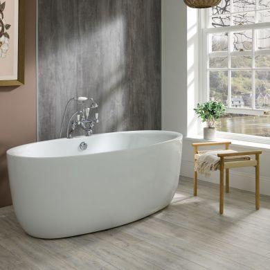 BC Designs Tamorina Gloss White Acrymite Freestanding Bath 1600x800mm