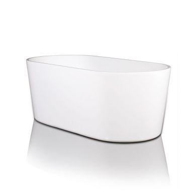 BC Designs Viado Gloss White Acrymite Freestanding Bath 1580x740mm