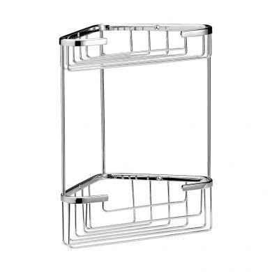 BC Designs Victrion Double Corner Shower Basket