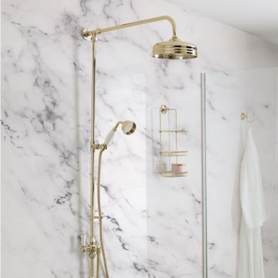 BC Designs Victrion Superbe Fixed Riser Kit With 8 Inch Showerhead and Handset