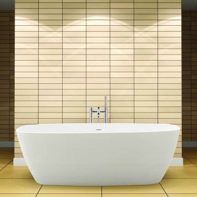 BC Designs Vive Gloss White Cian Freestanding Bath 1610x750mm