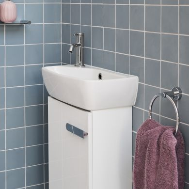 Britton MyHome 450mm Floorstanding Cloakroom Vanity Unit and Basin