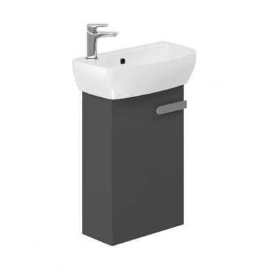 Britton MyHome 450mm Wall Hung Cloakroom Vanity Unit and Basin - Slate