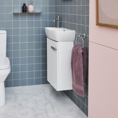 Britton MyHome 450mm Wall Hung Cloakroom Vanity Unit and Basin