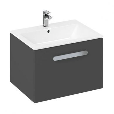 Britton MyHome 600mm Wall Hung Vanity Unit and Basin - Slate
