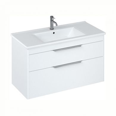 Britton Shoreditch 1000mm Double Drawer Vanity Unit With Basin