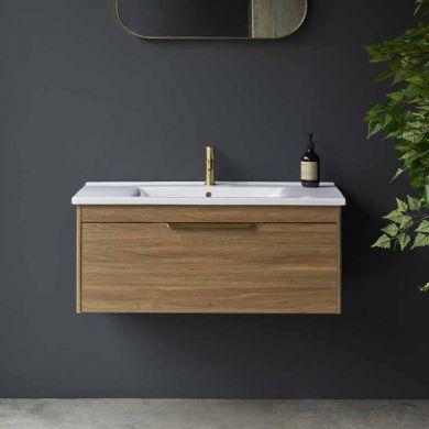 Britton Shoreditch 1000mm Single Drawer Vanity Unit With Basin