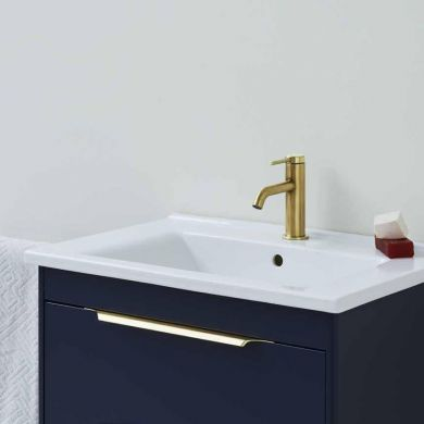Britton Shoreditch 650mm Double Drawer Vanity Unit With Basin