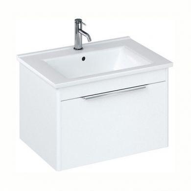 Britton Shoreditch 650mm Single Drawer Vanity Unit With Basin - Matt White