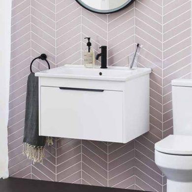 Britton Shoreditch 650mm Single Drawer Vanity Unit With Basin