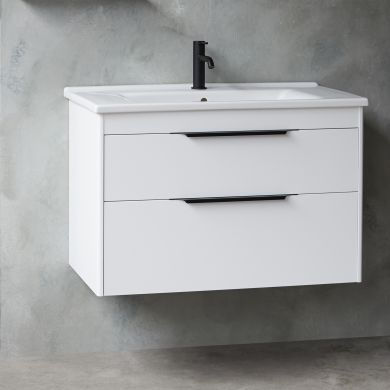 Britton Shoreditch 850mm Double Drawer Vanity Unit With Basin