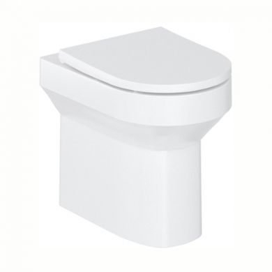 Britton Shoreditch Round Back To Wall Rimless Pan and Soft Close Seat