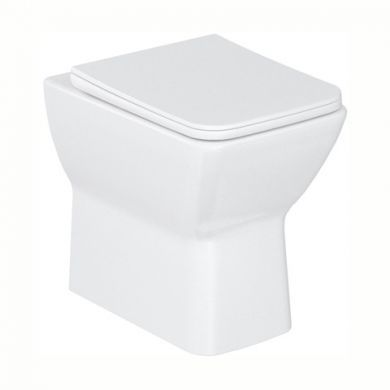 Britton Shoreditch Square Back To Wall Rimless Pan and Soft Close Seat