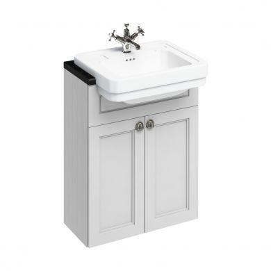 Burlington 600mm Double Door Vanity Unit For Semi Recessed Basins
