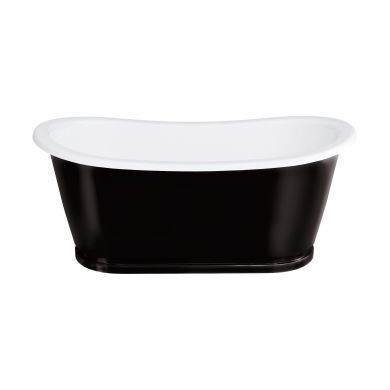 Clearwater Balthazar ClearStone Freestanding Bath 1675x761mm - Black