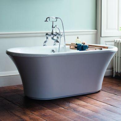 Burlington Brindley Double Ended Bath With Surround 1700x750mm