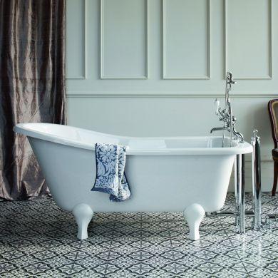 Burlington Buckingham Slipper Bath 1500x730mm