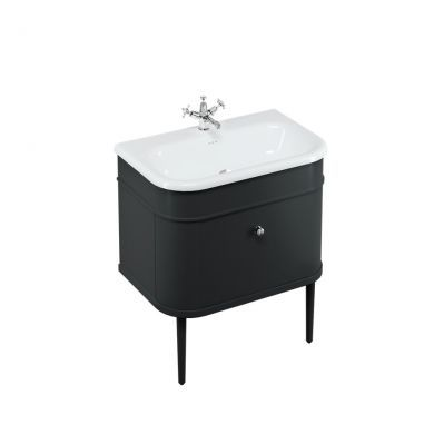 Burlington Chalfont 750 Single Drawer Vanity Unit and Large Roll Top Basin with Legs