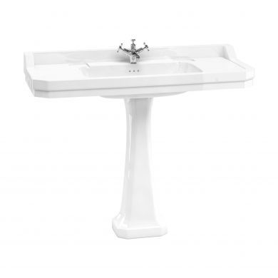 Burlington Edwardian 1200mm Basin With Standard White Pedestal