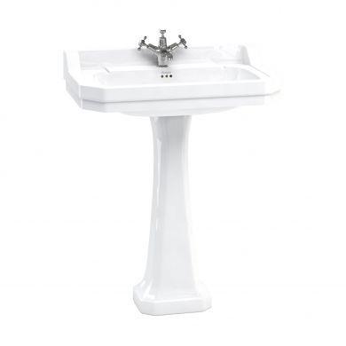Burlington Edwardian 800mm Basin With Standard White Pedestal