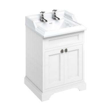 Burlington Freestanding 650 Two Door Vanity Unit and Classic Basin With Overflow