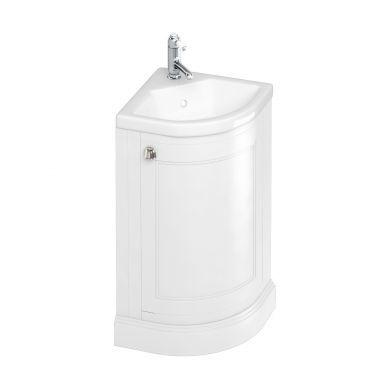 Burlington Freestanding Corner Cloakroom Vanity Unit With Quattrocast Basin