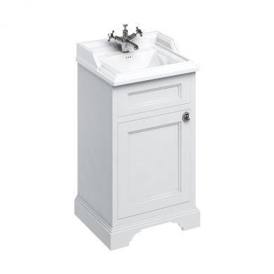 Burlington Freestanding Square Cloakroom Vanity Unit With Classic 510mm Basin