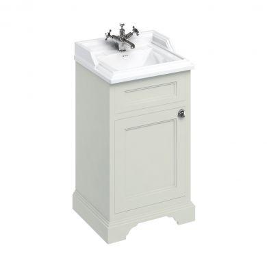 Burlington Freestanding Square Cloakroom Vanity Unit With Classic 510mm Basin - Sand