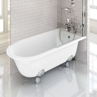 Burlington Hampton 1500x750mm Right Handed Shower Bath
