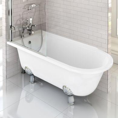 Burlington Hampton 1700x750mm Left Handed Shower Bath